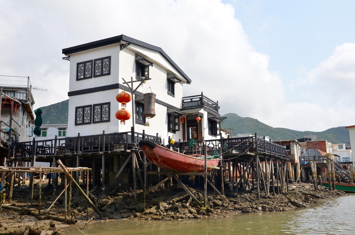 Stilt houses in Tai O fishing village in Lantau Island Hongkong