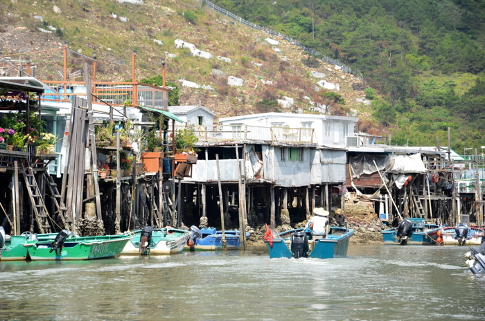 Tai O fishing village in Lantau Island Hongkong