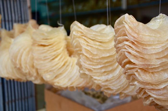 Fish chips in Tai O fishing village in Lantau Island Hongkong
