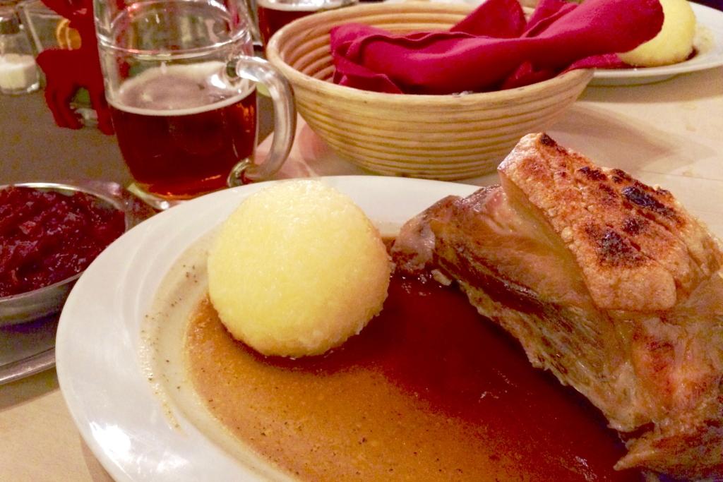 Schäufele at Steichele, one of the nicest restaurants in nürnberg