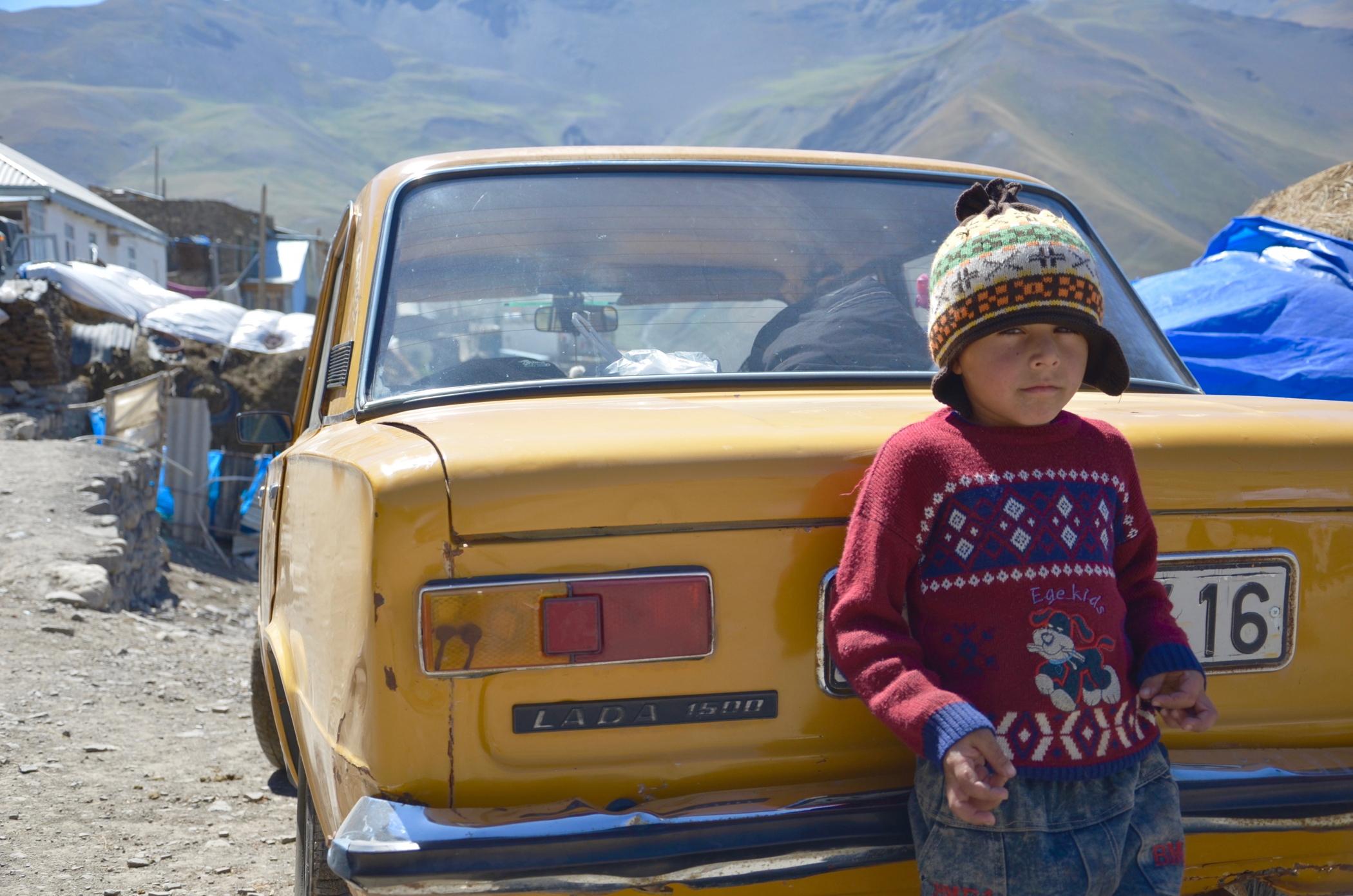 azerbaijan travel Xinaliq Lada cars